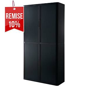 Armoire à rideaux Paperflow Easy Office - 204 x 110 cm - noire
