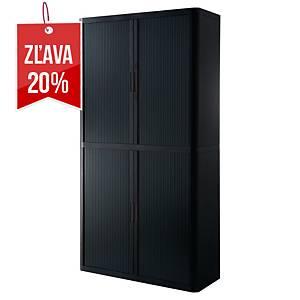 Multifunkčná skriňa Paperflow Easy Office, 204 x 110 x 42 cm, čierna