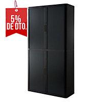 Armario alto de polipropileno con 4 estantes PAPERFLOW EasyOffice color negro