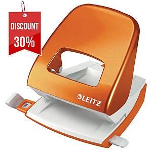 LEITZ WOW 2-HOLE PAPER  PUNCH ORANGE