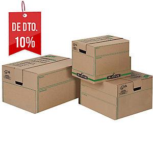 Pack de 5 caixas de embalagem FELLOWES Grande. Dim: 457 x 406 x 457 mm