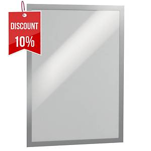 Durable Duraframe flexible frame with magnetic front - silver - A3 - pack of 2