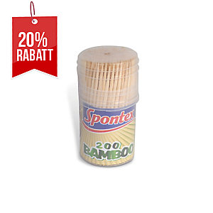 Spontex Bambus-Zahnstocher, 200 Stück