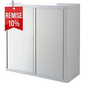 Armoire à rideaux Paperflow Easy Office - 104 x 110 cm - blanche