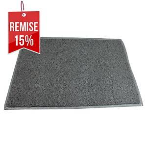 Tapis de sol extérieur Floortex Twister - 90 x 150 cm - gris