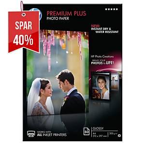Fotopapir HP CR674A Premium Inkjet, A4, 300 g, pakke a 50 ark