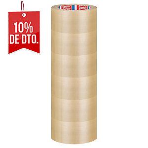 Pack de 6 cintas de embalar transparentes TESA de PVC de 66 m x 50 mm