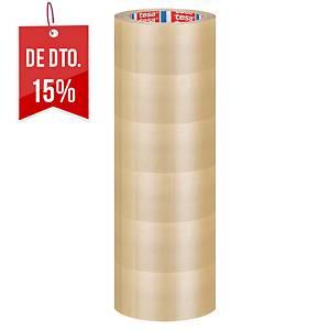 Pack de 6 fitas adesivas de embalagem Tesa - 50 mm x 66 m - transparente