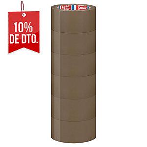 Cinta de embalar marrón TESA de PVC de 66 m x 50 mm