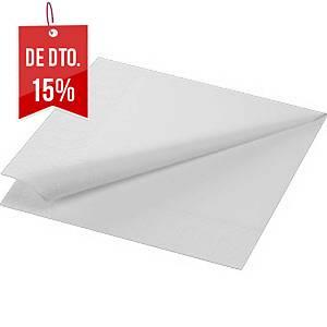Pacote de 125 guardanapos de papel - Folha dupla - 330 x 330 mm - branco
