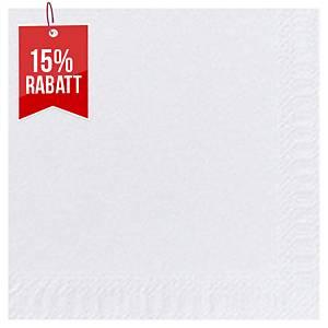 Servietten Duni 180376, Maße: 33 x 33cm, 2-lagig, weiß, 125 Stück