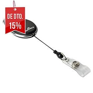 Pack de 10 identificadores com cordão extensível Durable Style - 80cm - preto
