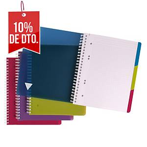Cuaderno espiral Clairefontaine Evolutiv - A5+ - 90 hojas - pauta 8 mm