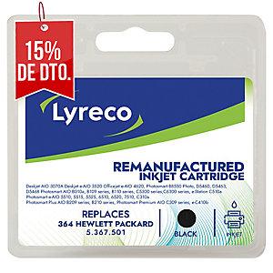 Cartucho de tinta LYRECO negro 364 compatible con HP PhotoSmart C5380/6380