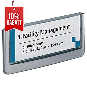 Türschild Durable Click Sign 486037, 149 x 52,5mm, Aluminium, grau