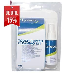 Kit de limpeza para ecrãs táteis Lyreco