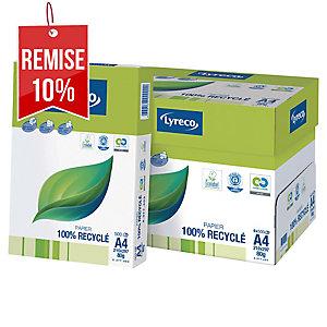 Ramette de 500 feuilles papier 100% recyclé Lyreco cie 110 A4 80g