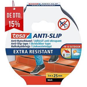 Fita antideslizante adesiva Tesa - 5 m - preto