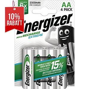 Akku Energizer 634999, Mignon, HR06/AA, 1,2 Volt, 2300mAh, 4 Stück