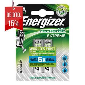 Pack de 2 pilhas recarregáveis Energizer HR6/AA Extreme