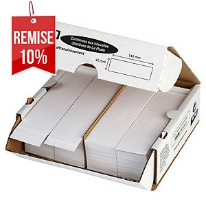 Etiquette d affranchissement Apli Agipa - 140 x 40 mm - boîte de 1000