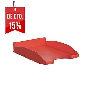Tabuleiro de secretária Lyreco Budget B - poliestireno - vermelho