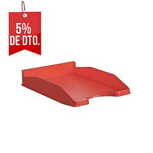 Bandeja de sobremesa Lyreco Budget B - poliestireno - rojo