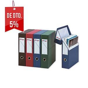 Caixa de arquivo vertical Pardo - fólio - cartão - azul