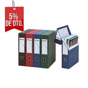 Estuche archivador vertical Pardo - folio - cartón - azul