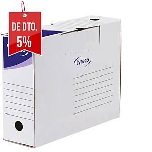 Pack 30 caixas de arquivo morto Lyreco - fólio - lombada 100 mm - branco