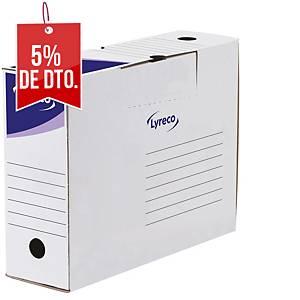 Pack de 30 cajas de archivo definitivo Lyreco - folio - lomo 100 mm - blanco