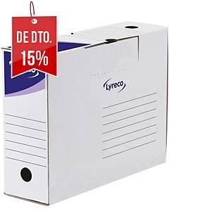 Pack 30 caixas de arquivo morto Lyreco - fólio prolongado - lombada 100 mm