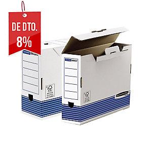 Pack de 10 Caixas de arquivo morto prima folio 100mm