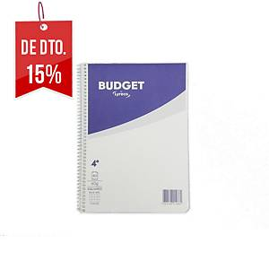 Caderno espiral Lyreco Budget - 4˚ - 80 folhas - quadriculado