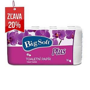 Toaletný papier Big Soft Plus, konvenčná rola, 16 kusov, 2 vrstvy