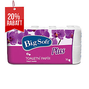 Big Soft Plus Toilettenpapier 2-lagig weiß, 16 Rollen