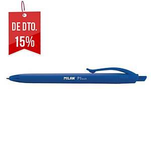 Caneta retrátil Milan P1 Touch - azul