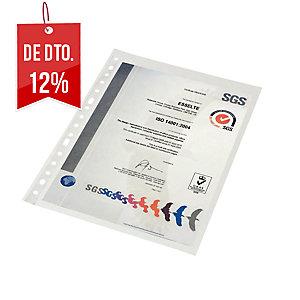 Pack de 100 fundas multitaladro folio 16 taladros pp rugoso 45micras ESSELTE