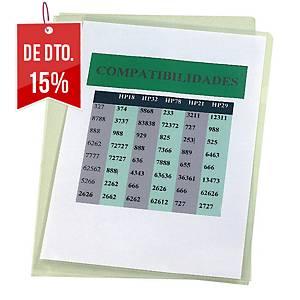 Pack de 100 pastas ranhura Esselte - A4 - PVC liso - 180 μ - transparente