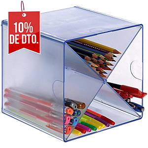 Mini módulo de organización de aspa Archivo 2000 - 4 huecos - cristal