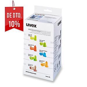 Caixa de 300 pares de tampões de espuma UVEX COM4-Fit SNR 33 dB