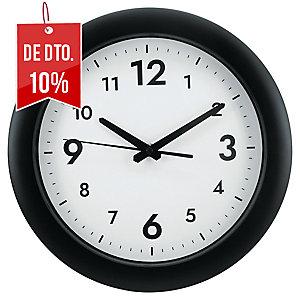 Relógio de parede easy em plástico 300mm preto