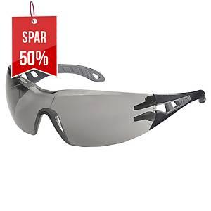 Sikkerhedsbriller Uvex Pheos, grå linser, lysgrå/grå