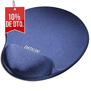 Tapete con reposamuñecas para ratón Dataline - licra - azul