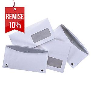 Enveloppe mécanisable 229 x 324 - 90 g - fenêtre 50 x 105 - par 250