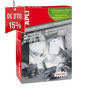 Pack de 400 etiquetas suspensas com fio Apli 396 - 50 x 70 mm - branco