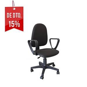Cadeira com mecanismo de contacto permanente Archivo 2000 Ourizo - preto