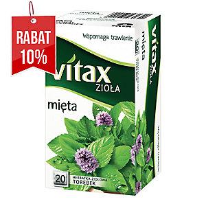 Herbata ziołowa VITAX mięta, 20 okrągłych torebek bez zawieszki