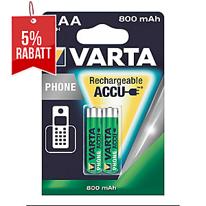 Akku Varta 58398, T398, Micro, AAA, 1,2 Volt, 800mAh, Phonepower, 2 Stück