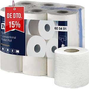 Pack de 12 rolos de papel higiénico Tork Premium - Folha dupla - 22,8 m